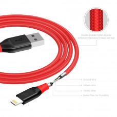 Кабель Tronsmart Lightning MFi 19AWG 1.2m Nylon Cable Red